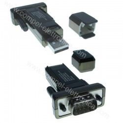 CONVERTITORE USB/SERIALE DB9 (RS232) E CAVO 0,2MT