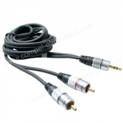 CAVO Jack SPINA 3,5 STEREO / 2 SPINE RCA M/M 2,5 MT PROFESSIONALE