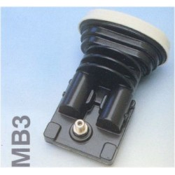 LNB MONOBLOCCO 3° DUAL FEED 1 OUT 60mm