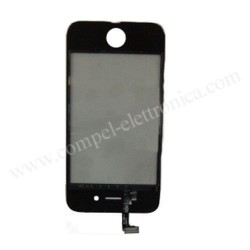 TOUCH VETRINO FLAT/CONN IPHONE 4G NERO