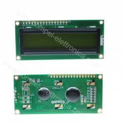 DISPLAY LCD 1602A 16X2 SERIALE HD44780 RETROILLUMINATO VERDE