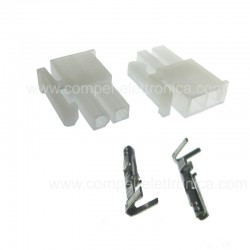 BLOCCHETTO FEMMINA 2 POLI MOLEX CON 2 PIN