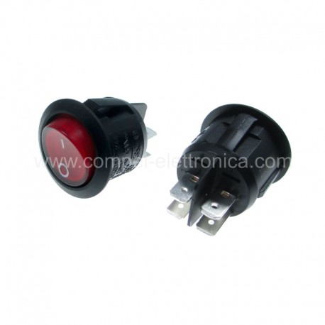 Interruttore bilanciere bipolare rosso luminoso resistente all/'acqua waterproof