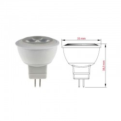FARETTO A LED GU4 12V 4W 3K 260Lm MINI DIAM. 35MM ALT. 38,5