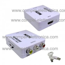 CONVERTITORE SEGNALE DA HDMI A AUDIO E VIDEO RCA ANALOGICO (ATTIVO)