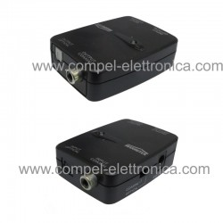 CONVERTITORE AMPLIFICATORE AUDIO DIGITAL OTTICO TOSLINK E COAXIAL 5.1