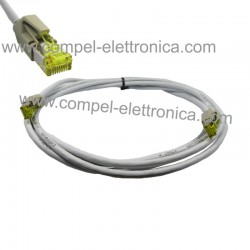 CAVO PATCH CORD FTP CAT7E 3MT GRIGIO CON CONNETTORI 6A LSOH