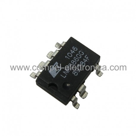 LNK 586 GG IC ZERO STANDBY CONSUMPTION INTEGR. OFF-LINE SWITCHER SMD-8C