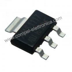 AMS 1117 ADJ 1,5V.. 5V 1,5A VOLTAGE REGULATOR SOT-223 SMD