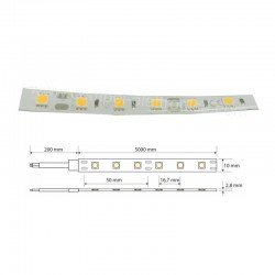 STRIP LED 5050 12V 60W 60LED/M 3K IP65 5mt