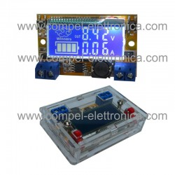 CONVERTITORE DC/DC STEP-DOWN In 5Vdc.23V OUT 0Vdc.16,5V 3A DISPLAY/CASE