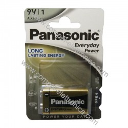 BATTERIA 9V 6LF22 ALKALINA POWER PANASONIC 1PZ