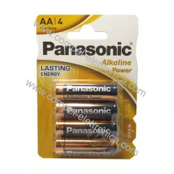BATTERIA AA STILO ALKALINE POWER PANASONIC 4PZ