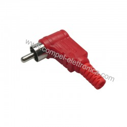 SPINA RCA IN PVC ROSSA A 90° JAPAN PROFESS.