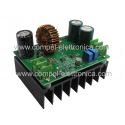 CONVERTITORE DC/DC STEP/UP IN 10V..60Vdc OUT 12V..80Vdc 12A MAX 600W