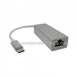 ADATTATORE USB (C) MASCHIO A RJ45 RETE ETHERNET FULL SPEED 10/100 Mbps