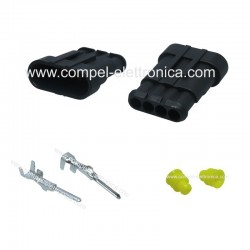 CONNETTORE SUPERSEAL 1.5 - 4 PIN MASCHIO IP67